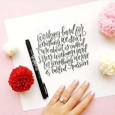 & I don't dread Mondays anymore& to anyone working to create their own dream job, or simply find more happiness in what they already& Brush Lettering Worksheet, Brush Lettering Quotes, Hand Lettering Styles, Lettering Design, Calligraphy Doodles, Calligraphy Quotes, Caligraphy, Modern Calligraphy, Typography Drawing