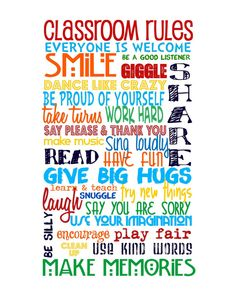 Classroom Rules  Primary Colors with Classroom por sweetleighmama, $12.00