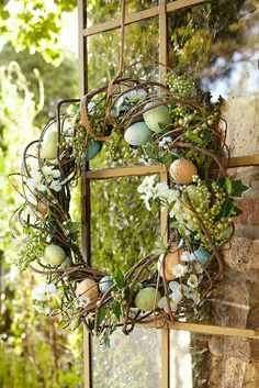 Simple, natural Easter wreath
