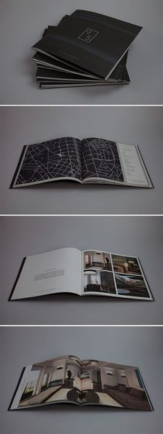 A Collection of Effective Real Estate Brochure Designs and Layouts - Graphic Templates Search Engine Graphic Design Magazine, Graphic Design Books, Magazine Design, Pamphlet Design, Booklet Design, Corporate Design, Web Design, Layout Design, Portfolio Layout