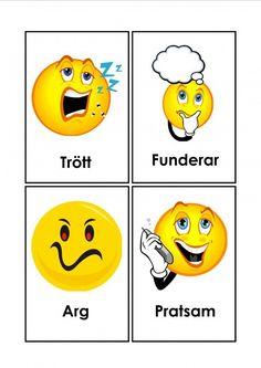 Mariaslekrum - Illustrerade känslor. Learn Swedish, Tweety, Instagram Story, Preschool, Motivation, Swedish Language, Learning, Creative, Fictional Characters