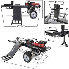 Titan Towable Hydraulic Deluxe Log Wood Splitter 37 Ton w/Log Lift Engine Chainsaw Repair, Chainsaw Mill, Metal Projects, Welding Projects, Garage Hoist, Firewood Processor, Splitting Wood, Fire Pit Essentials, Metal Bending Tools