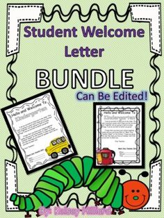Student Welcome Letter (Can be edited) 11 different types-Back To School Letters Student Welcome Letters, Welcome Students, Teacher Binder, Your Teacher, School Teacher, Behavior Management, Classroom Management, Brag Tags, Back To School