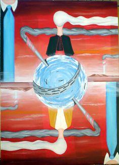 Dualismo, 2008 olio su tela 50x70, Pasquale Mastrogiacomo http://www.pasqualemastrogiacomo.it/?page_id=1694