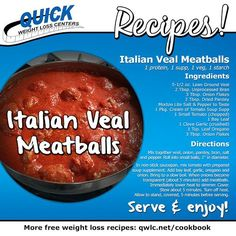 Delicious Italian Meatballs.  Find more weight loss recipes at http://quickweightloss.net/recipes