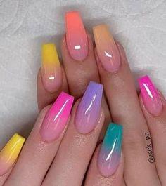 Cute Nail Art Designs, Crazy Nail Designs, Rose Nail Art, Rose Nails, Crazy Nail Art, Crazy Nails, Basic Nails, Simple Nails, Multicolored Nails