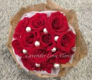 Lovely red roses Bouquet Red Rose Bouquet, Hand Bouquet, Red And White Roses, Red Roses, Flowers Singapore, Blue Hydrangea, Calla Lily, Pink, Bunch Of Red Roses