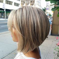 Image result for blonde high and low lights in a bob