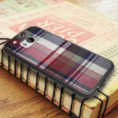Plaid Color Red Blue Green HTC One M8 Case
