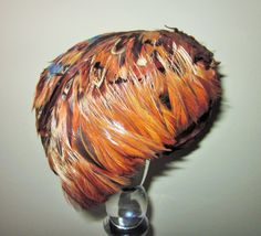 Vintage Feather Hat Pheasant Feathers by SweetlyAgedVintage