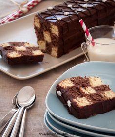 Recette du gâteau en damier chocolat vanille