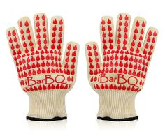 iBarBQ Barbeque Grill Smoker Oven Heat Protection Silicone Gloves, Pair *** Details can be found by clicking on the image.