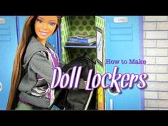 ▶ How to Make Doll Lockers - YouTube
