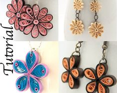 Tutorial for Paper Quilled Jewelry PDF Paisley and by HoneysHive