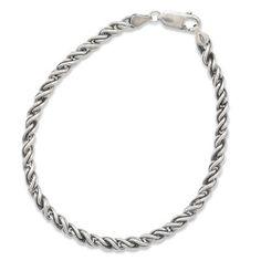 3 mm MEN'S Oxidized Rope Bracelet  925 Sterling by ForsgateJewelry
