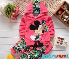 Girls clothing sets Mickey Children Clothes Set Cotton Bow Tops T shirt Leggings Pants Baby Kids 2 Pcs Suit Costume For Year Baby Girl Tracksuits, Toddler Girl Outfits, Kids Outfits, Baby Girl Pants, Baby Girls, Girls Fit, Baby Boy, Stylish Baby Clothes, Girl Sleeves