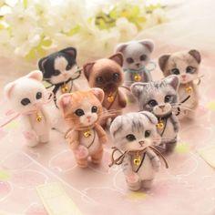 Needle Felting Craft Kit DIY felt wool Kit Lovely cat key chain kits – Best Baby And Baby Toys Wool Needle Felting, Needle Felting Tutorials, Needle Felted Animals, Felt Animals, Nuno Felting, Beginner Felting, Kit Diy, Cat Keychain, Wool Dolls