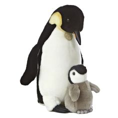 Miyoni - Emperor Penguin And Chick 14in
