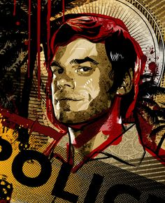 My new favorite show, maybe even more favored than House MD! You can buy a poster of this here: [link] Dexter Morgan Dexter Morgan, Dexter Wallpaper, Dexter Season 4, Michael C. Hall, Horror, Nerd, Dimebag Darrell, Greys Anatomy Memes, Billie Holiday