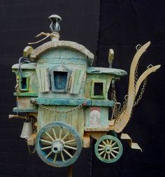 A fairy caravan. Who shall pull it? Perhaps a sweet little bunny?