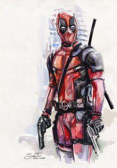#Deadpool #Fan #Art. (Deadpool) By: SakuTori. (THE * 5 * STÅR * ÅWARD * OF: * AW YEAH, IT'S MAJOR ÅWESOMENESS!!!™) [THANK U 4 PINNING!!!<·><]<©>ÅÅÅ+ 9. 5.