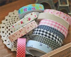 Free ship!!36pcs/lot !!Cotton printed cloth tape/ Korean ...