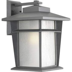 """Progress Lighting P6042-WB Loyal 1 Light 16"""" Tall Outdoor Wall Sconce with Etche Textured Graphite Outdoor Lighting Wall Sconces Outdoor Wall Sconces"""