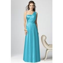 Lux Chiffon Turquoise Blue Bridesmaid Dresses TET219 - $112.00