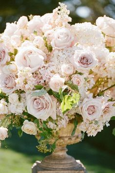 white and blush flowers