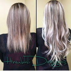 She is touched up!! Aqua Tape-in Hair Extensions looks beautiful as ever. Thank you Hnubhli Designs for the before and after pictures.