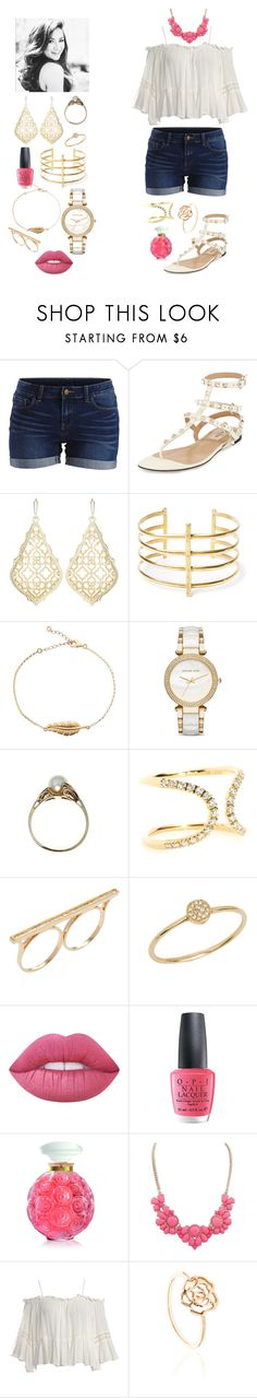 """Summer Date"" by megan-maddalena ❤ liked on Polyvore featuring Vila Milano, Valentino, Kendra Scott, BauXo, Michael Kors, Roberto Marroni, Maiyet, Anine Bing, Lime Crime and OPI"
