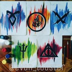 First 5 of 20 The Mortal Instruments,  Divergent, Vampire Academy, Percy Jackson and Harry Potter >>> Credits to the artist