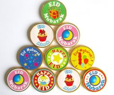 "Give your kids a yummy Eid chocolate coin on Eid day!.Each Eid treat has a sticker that says ""Eid Mubarak or Happy Eid"" The Eid chocolates are made of creamy milk chocolate and are suitable for vegetarians. We also sell Ramadan chocolate coins.£2.50"