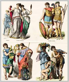 Clothing of the Greek in ancient times. Pre-Christian times.