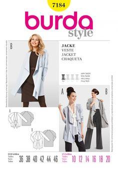Burda Style B7184 Blouse Sewing Pattern