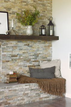 4 Conscious Clever Tips: Painted Fireplace Screen mobile home fireplace makeover.Fireplace Built Ins Painted large fireplace joanna gaines. Fireplace Remodel, Fireplace Mantle, Living Room With Fireplace, Fireplace Surrounds, Off Center Fireplace, Corner Stone Fireplace, Simple Fireplace, Fireplace Garden, Fireplace Shelves