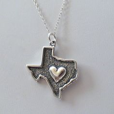 FashionJunkie4Life - Texas State Charm Necklace - 925 Sterling Silver, $18.99 (http://www.fashionjunkie4life.com/texas-state-charm-necklace-925-sterling-silver/) Use coupon code PIN10 for 10% off your entire purchase and free shipping worldwide.