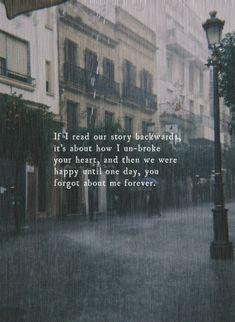 street alone quotes broken raining