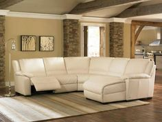 Natuzzi Leather Sectional Sofa County