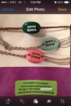 Jersey Strong Charm for Charity  #sarizoback, #wendyheston, #charmies #henryvaccaro, #charmiesbywendy, #jerseystrong