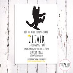 Where the Wild Things Are Birthday Invitation, Let the Wild Rumpus Start, printable file.