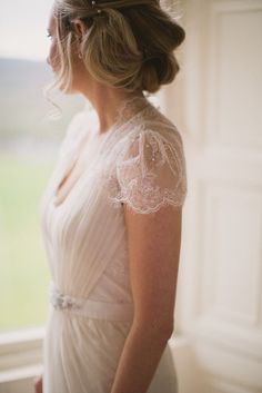 Love a wedding dress with delicate details  lace