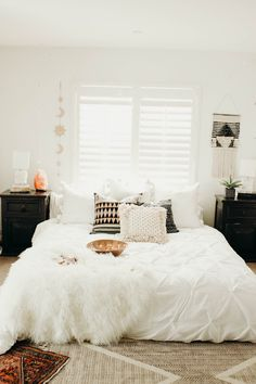 Bedroom Goals ☽ ✩ Beautiful room by Lady Scorpio | Save 25% off all orders with code PINTERESTXO at checkout | Shop Now LadyScorpio101.com @ladyscorpio101 || Bohemian white Pillows Bedroom Moon Phase Wall Hanging Decor Tapestry Design Polaroids all seeing eye Boho Bungalow UOhome urban outfitters apartment dorm by Alexa Halladay