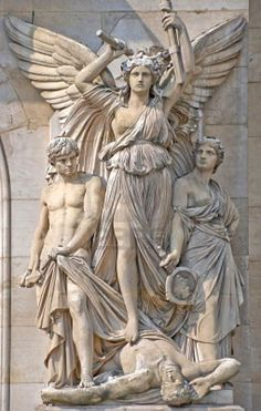 Picture of Sculpture composition at the facade of the Opera Garnier, Paris stock photo, images and stock photography. Cemetery Angels, Cemetery Art, Angels Among Us, Angels And Demons, Opera Garnier Paris, Statue Ange, Angeles, I Believe In Angels, Art Sculpture