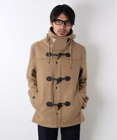 Tan wool toggle jacket with hood. <予約>International Gallery BEAMS メルトンショートダッフルコート / |ビームス公式通販サイト|BEAMS Online Shop