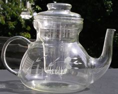 Retired Princess House Heritage Hand-Blown Teapot With Infuser Complete Exc #PrincessHouse