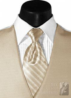 champagne vest with black tux | Champagne Tan 'Sterling' Vest | Vests
