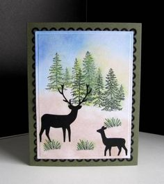 Wilderness Duo by catluvr2 - Cards and Paper Crafts at Splitcoaststampers