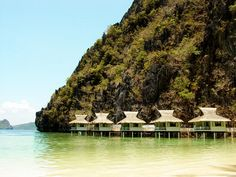 Celebrated my one year wedding anniversary on that 2nd hut from the right. Miss this place. Miniloc Resort, El Nido, Philippines