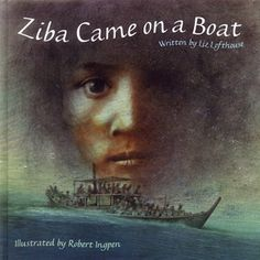 Refugee - Ziba Came on a Boat Ziba came on a boat. A soggy old fishing boat that creaked and moaned as it rose and fell, rose and fell, across the endless sea. A refugee story crossing the seas. Hardback 32 pages, picture book Hans Christian, Refugee Week, Books To Read, My Books, Books Australia, Trade Books, Award Winning Books, Book Study, Children's Picture Books